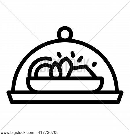 Takeaway Meal Icon. Outline Takeaway Meal Vector Icon For Web Design Isolated On White Background