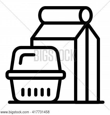 Takeout Meal Icon. Outline Takeout Meal Vector Icon For Web Design Isolated On White Background
