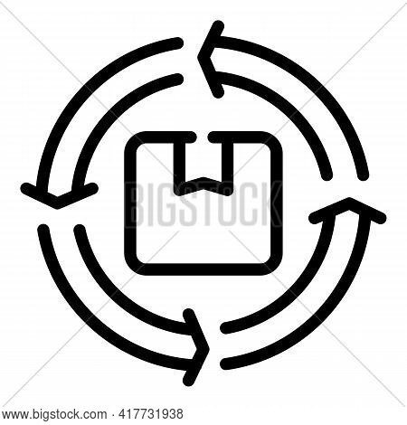Return Parcel Icon. Outline Return Parcel Vector Icon For Web Design Isolated On White Background