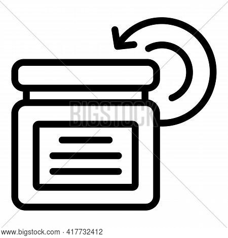Replace Product Icon. Outline Replace Product Vector Icon For Web Design Isolated On White Backgroun