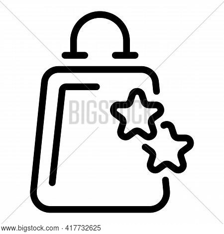 Vip Shopping Client Icon. Outline Vip Shopping Client Vector Icon For Web Design Isolated On White B