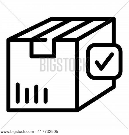 Delivered Parcel Icon. Outline Delivered Parcel Vector Icon For Web Design Isolated On White Backgro