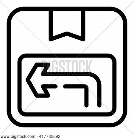 Return Option Icon. Outline Return Option Vector Icon For Web Design Isolated On White Background