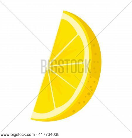 Slice Of Lemon Vector Icon.cartoon Vector Icon Isolated On White Background Slice Of Lemon.