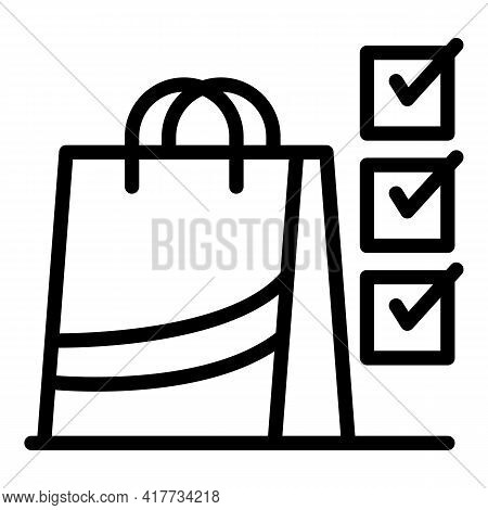 Consumer Purchase Icon. Outline Consumer Purchase Vector Icon For Web Design Isolated On White Backg