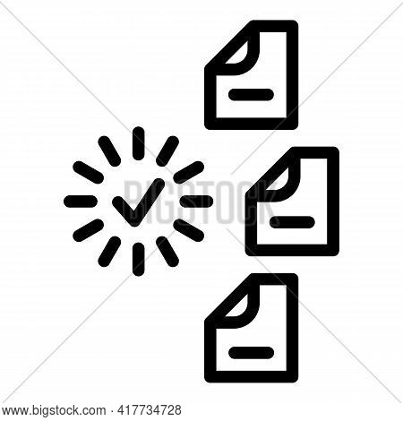 Loading Files Icon. Outline Loading Files Vector Icon For Web Design Isolated On White Background