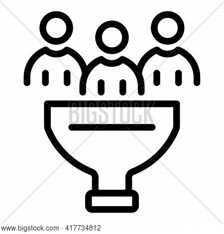 Education Funnel Icon. Outline Education Funnel Vector Icon For Web Design Isolated On White Backgro