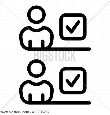 Mark Student Icon. Outline Mark Student Vector Icon For Web Design Isolated On White Background