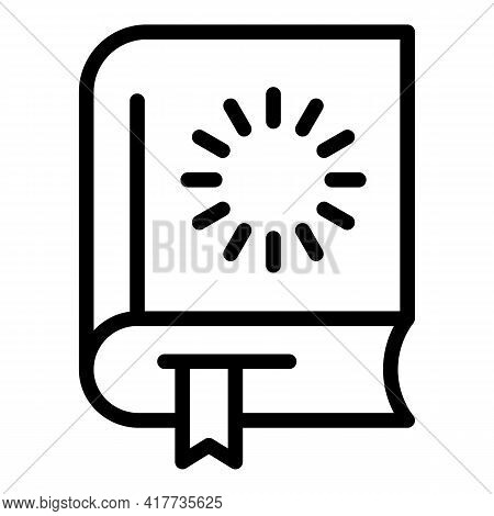 Loading Book Icon. Outline Loading Book Vector Icon For Web Design Isolated On White Background