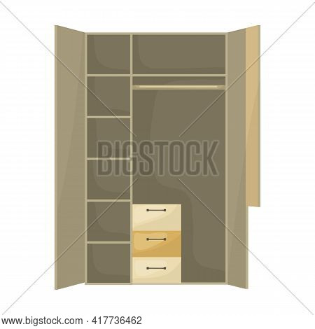 Cupboard Vector Icon.cartoon Vector Icon Isolated On White Background Cupboard.