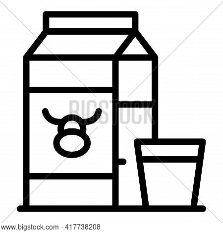 Milk Protein Icon. Outline Milk Protein Vector Icon For Web Design Isolated On White Background