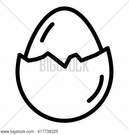 Egg Food Protein Icon. Outline Egg Food Protein Vector Icon For Web Design Isolated On White Backgro