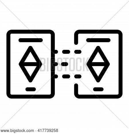 Blockchain Technology Icon. Outline Blockchain Technology Vector Icon For Web Design Isolated On Whi