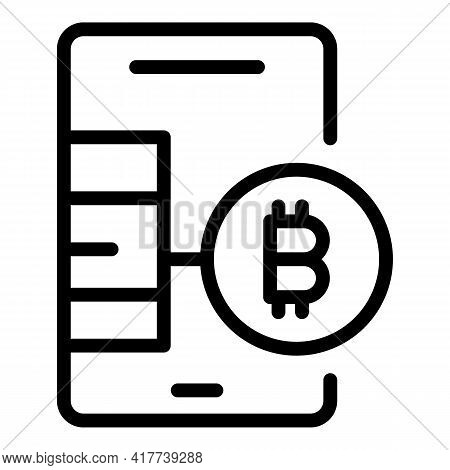 Blockchain App Icon. Outline Blockchain App Vector Icon For Web Design Isolated On White Background