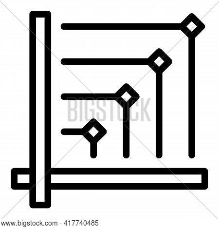 Virtual Bitcoin Money Icon. Outline Virtual Bitcoin Money Vector Icon For Web Design Isolated On Whi