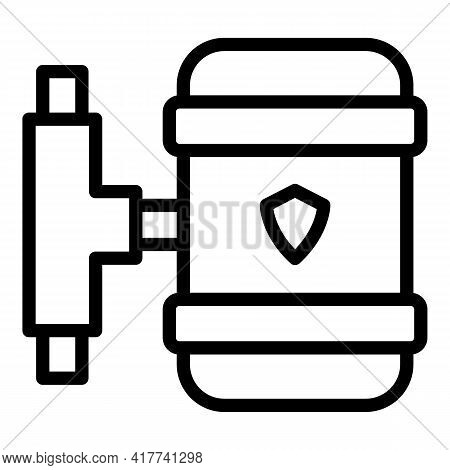 Water Purification Icon. Outline Water Purification Vector Icon For Web Design Isolated On White Bac