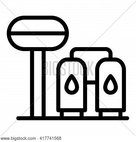 Purification Station Icon. Outline Purification Station Vector Icon For Web Design Isolated On White
