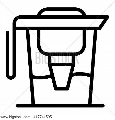 Filter Pitcher Icon. Outline Filter Pitcher Vector Icon For Web Design Isolated On White Background