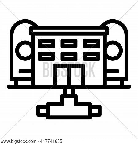 Purification Factory Icon. Outline Purification Factory Vector Icon For Web Design Isolated On White