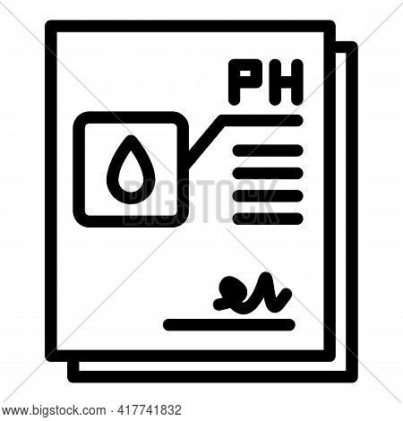 Water Ph Icon. Outline Water Ph Vector Icon For Web Design Isolated On White Background