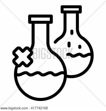 Analysis Water Flask Icon. Outline Analysis Water Flask Vector Icon For Web Design Isolated On White