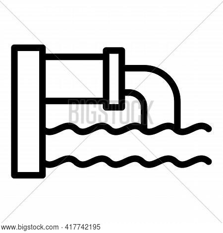 Sewage Pipe Icon. Outline Sewage Pipe Vector Icon For Web Design Isolated On White Background