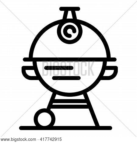 Barbeque Tool Icon. Outline Barbeque Tool Vector Icon For Web Design Isolated On White Background