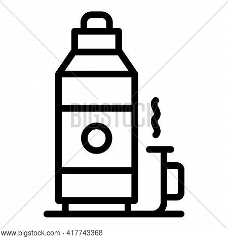 Camp Thermos Icon. Outline Camp Thermos Vector Icon For Web Design Isolated On White Background