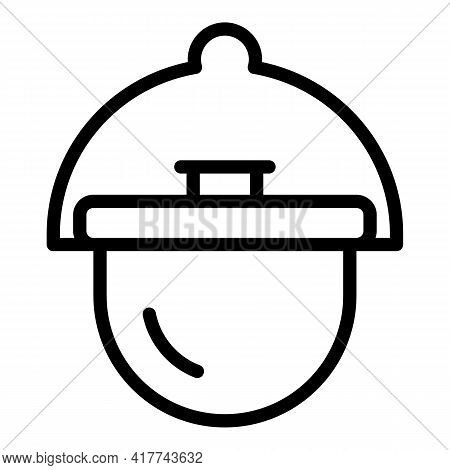 Camp Cauldron Icon. Outline Camp Cauldron Vector Icon For Web Design Isolated On White Background
