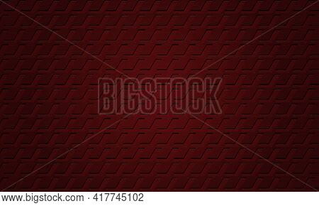 Dark Red Textured Metallic Crimson Background. Dark Metal Texture Steel Three-dimensional Backdrop.