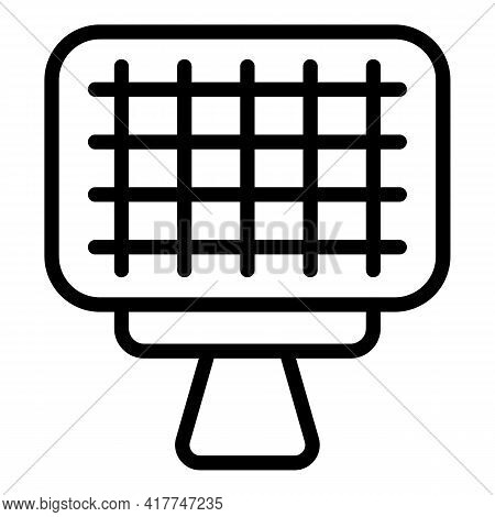 Barbecue Net Icon. Outline Barbecue Net Vector Icon For Web Design Isolated On White Background