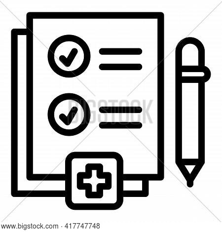 Medical Test Icon. Outline Medical Test Vector Icon For Web Design Isolated On White Background