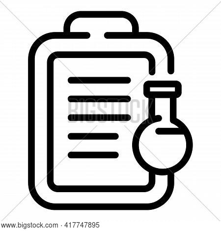 Clinical Test Icon. Outline Clinical Test Vector Icon For Web Design Isolated On White Background