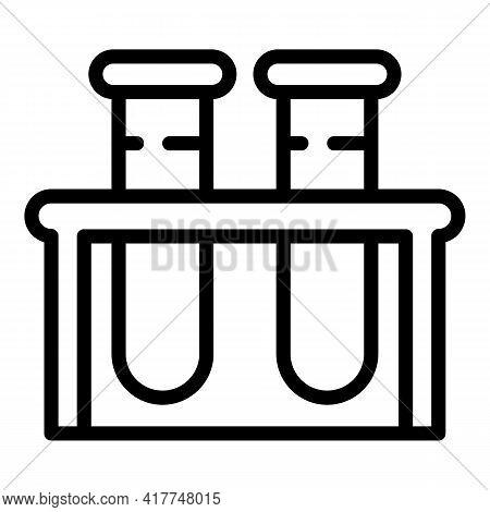 Analysis Tubes Icon. Outline Analysis Tubes Vector Icon For Web Design Isolated On White Background