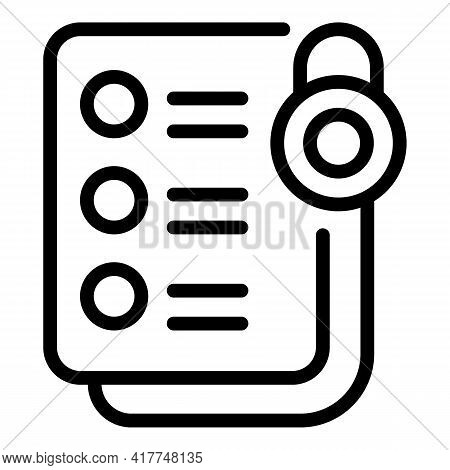 Private Medical Test Icon. Outline Private Medical Test Vector Icon For Web Design Isolated On White