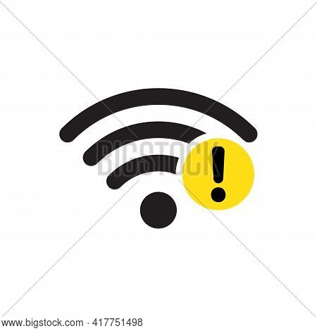 No Connection Icon Vector. No Network Symbol. No Wifi Sign Paid Internet For Graphic Design, Logo, W