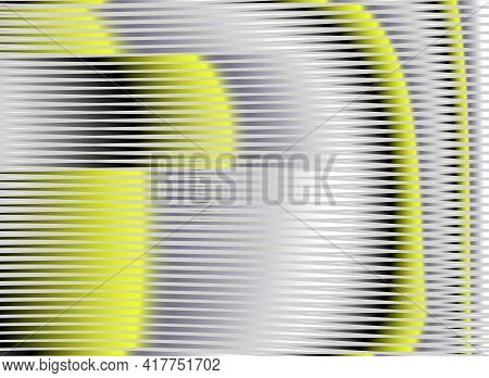 Moire Abstract Vector Textured Web Banner With Lines In Trendy Colors Of The Year Yellow Illuminatin