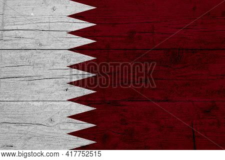 Flag Of Qatar Wooden Texture Of The Flag Of Qatar.