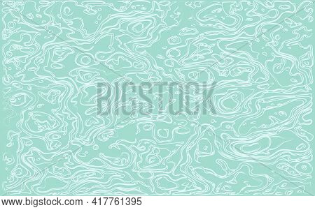 Abstract Gray Green Background With Chaotic Curled White Lines. Template For Banner, Poster, Flyer,
