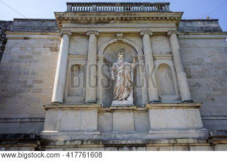 Sacro Monte (va), Italy - June 01, 2020: Mose Statue At Pilgrimage Village Of Santa Maria Del Monte