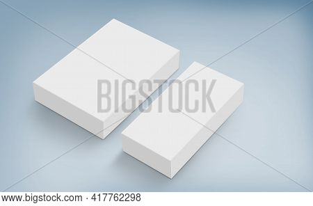 3d White Boxes On Ground, Editable Psd Mock-up Series With Smart Object Layers Template Ready For Yo