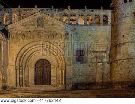 Collegiate Church Of Santa Juliana De Santillana Del Mar Cantabria, Spain Is One Of The Most Represe