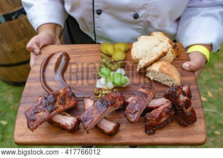 Tasty And Delicious Mutton Ribs Fresh And Healthy Beef Juicy And Yummy Meat Roasted And Grilled Meat