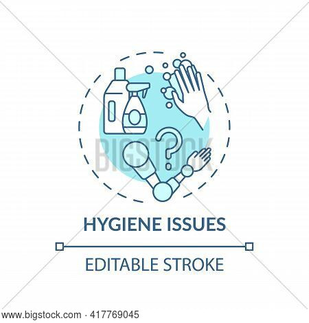 Hygiene Issues Concept Icon. Prosthesis Replacement Idea Thin Line Illustration. Implants And Prosth