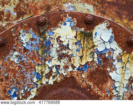 Iron Metal Surface Rust Great Abstract Colorful Background And Texture Image With Space For Copy Pas