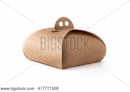 Packaging Box With Handle Mockup For Cake