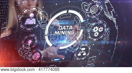 Data Mining Concept. Business, Modern Technology, Internet And Networking Concept.