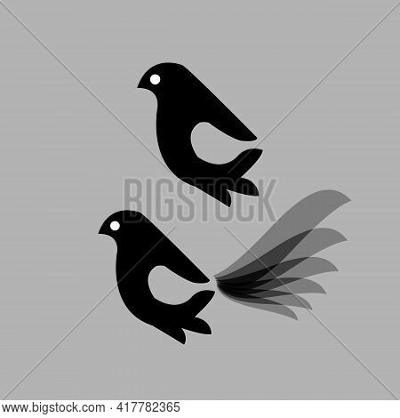 Bird Icon Isolated On White Background From Spring Collection. Bird Icon Trendy And Modern Bird Symb