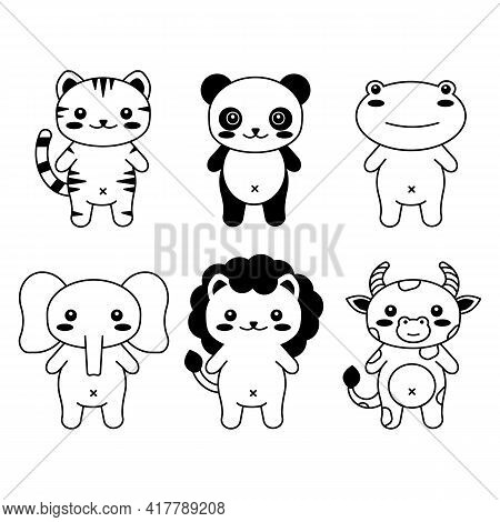 Editable Line, Stroke. Hand Drawn Vector Illustration Character. Cute Pet Animal. Doodle Cartoon Sty