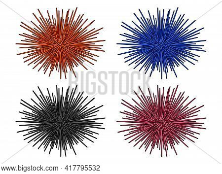Sea Urchin Illustration, Drawing, Engraving, Ink, Line Art, Vector. Sea Urchin Logo. Isolated Sea Ur